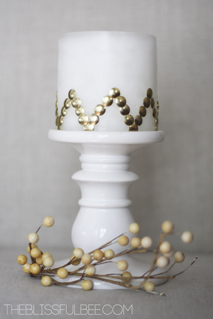 Thumbtack Patterned Candles