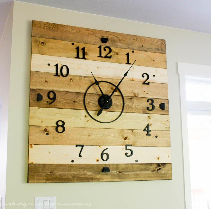 Wood Plank Clock