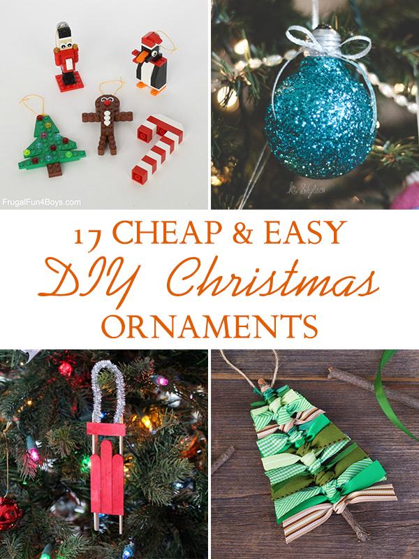 17 Cheap & Easy DIY Christmas Ornaments