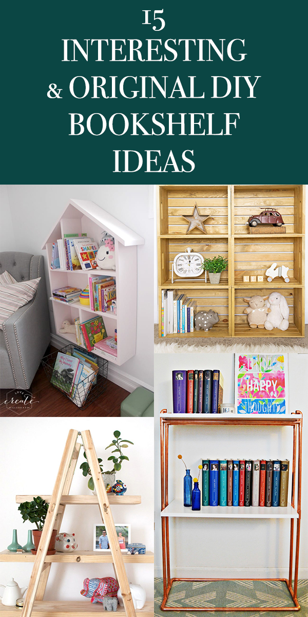 15 Interesting and Original DIY Bookshelf Ideas
