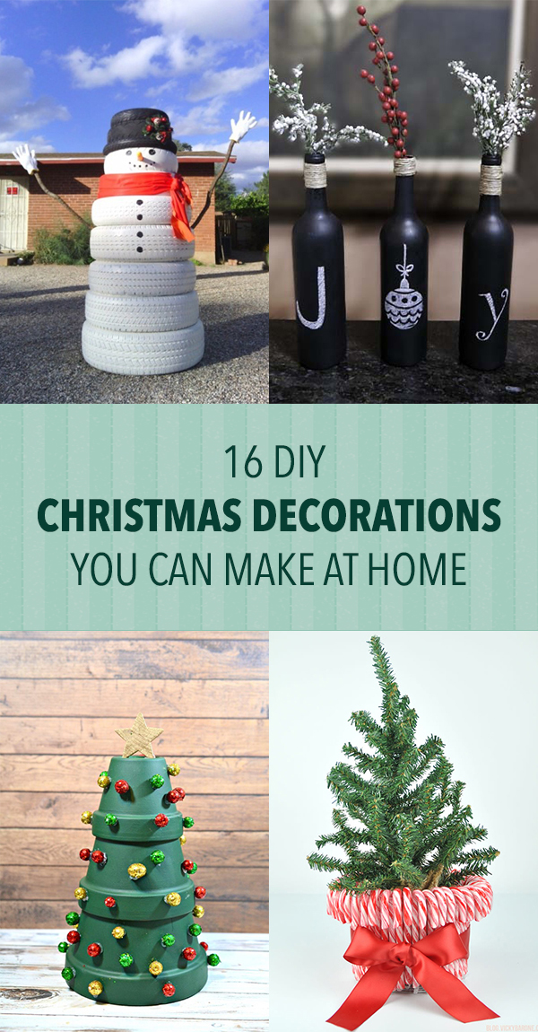 16 Cool DIY Christmas Decorations You Can Make at Home