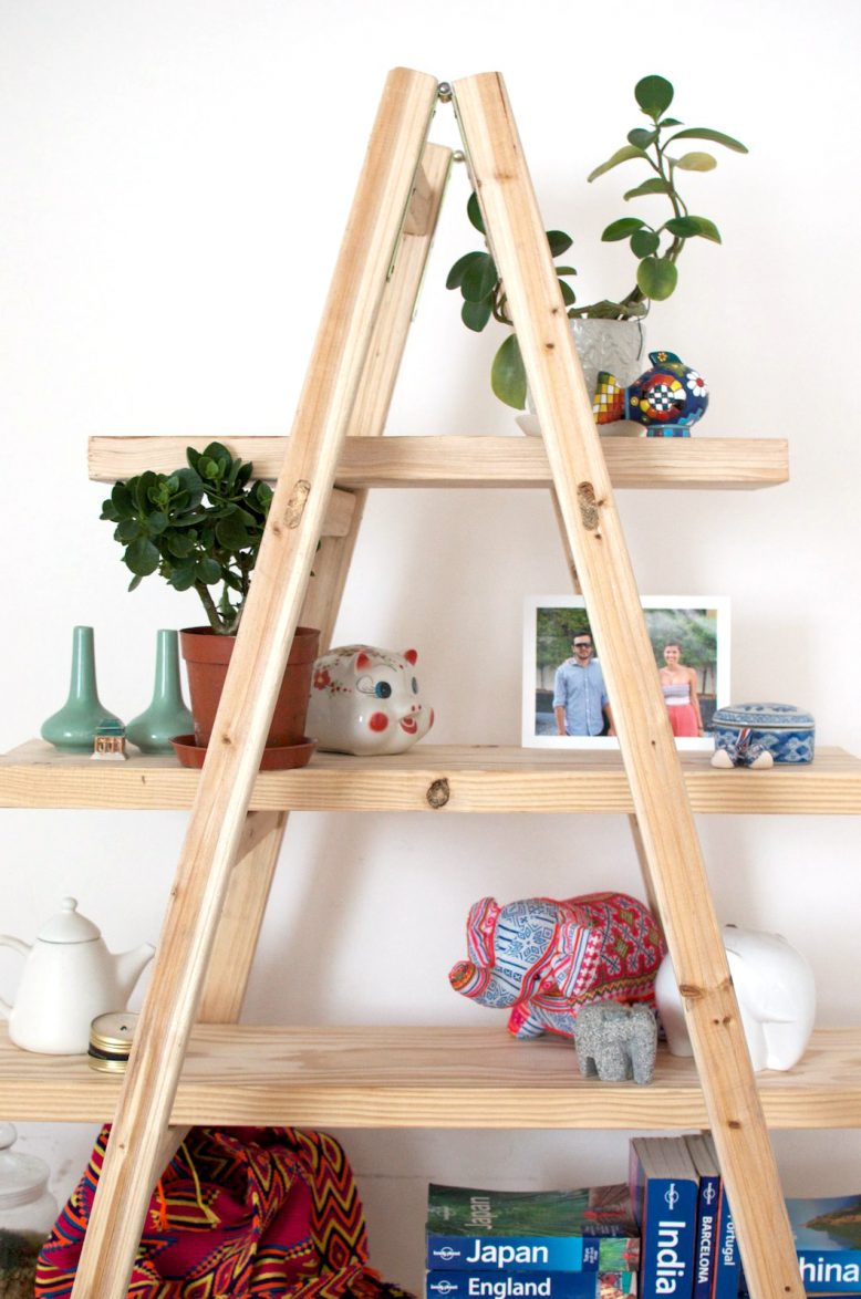 A-Frame Ladder Shelf