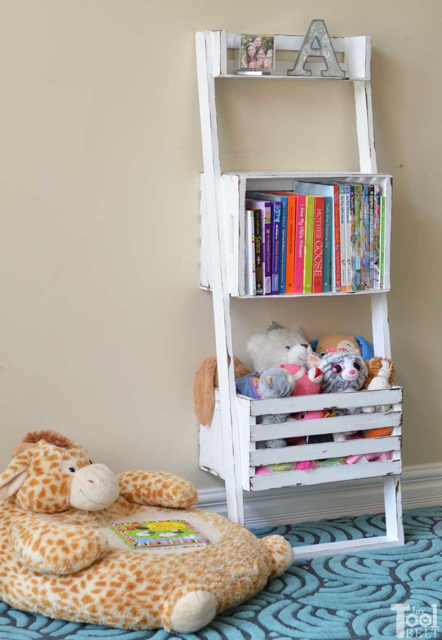 Easy Crate Leaning Shelf and Storage