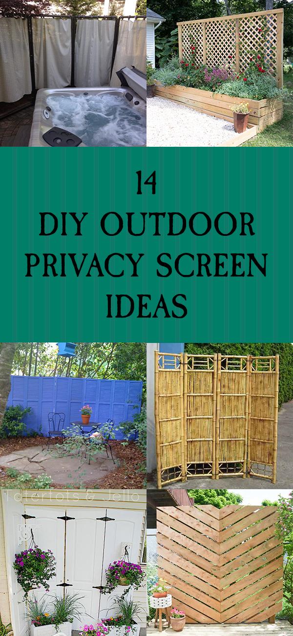14 DIY Outdoor Privacy Screen Ideas