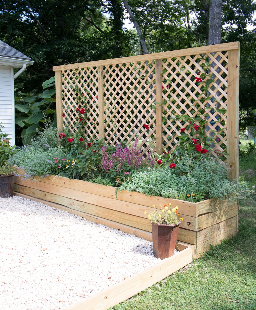 Privacy Screen Planter
