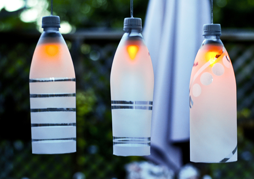 Recycled Bottle Party Light