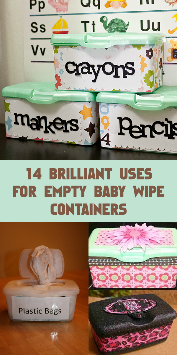 14 Brilliant Uses For Empty Baby Wipe Containers