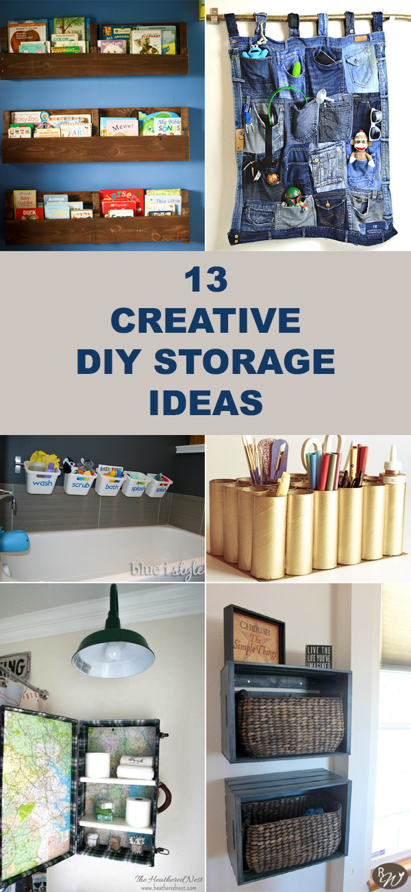 13 Creative DIY Storage Ideas