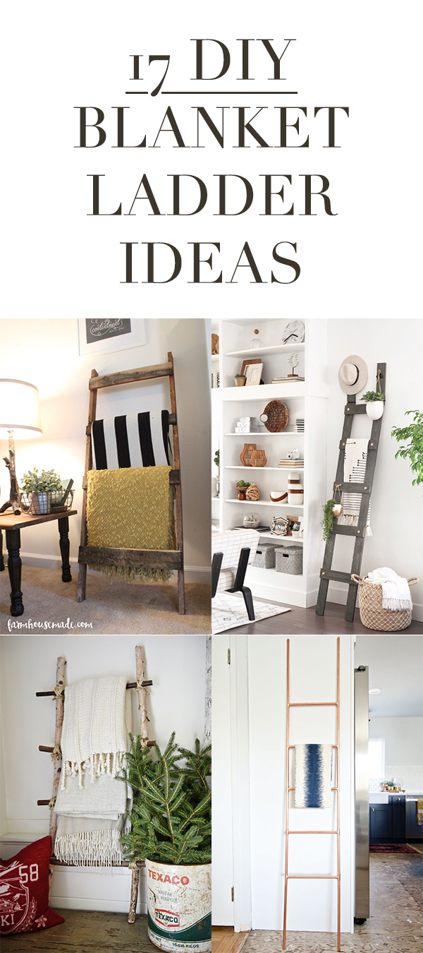 17 DIY Blanket Ladder Ideas