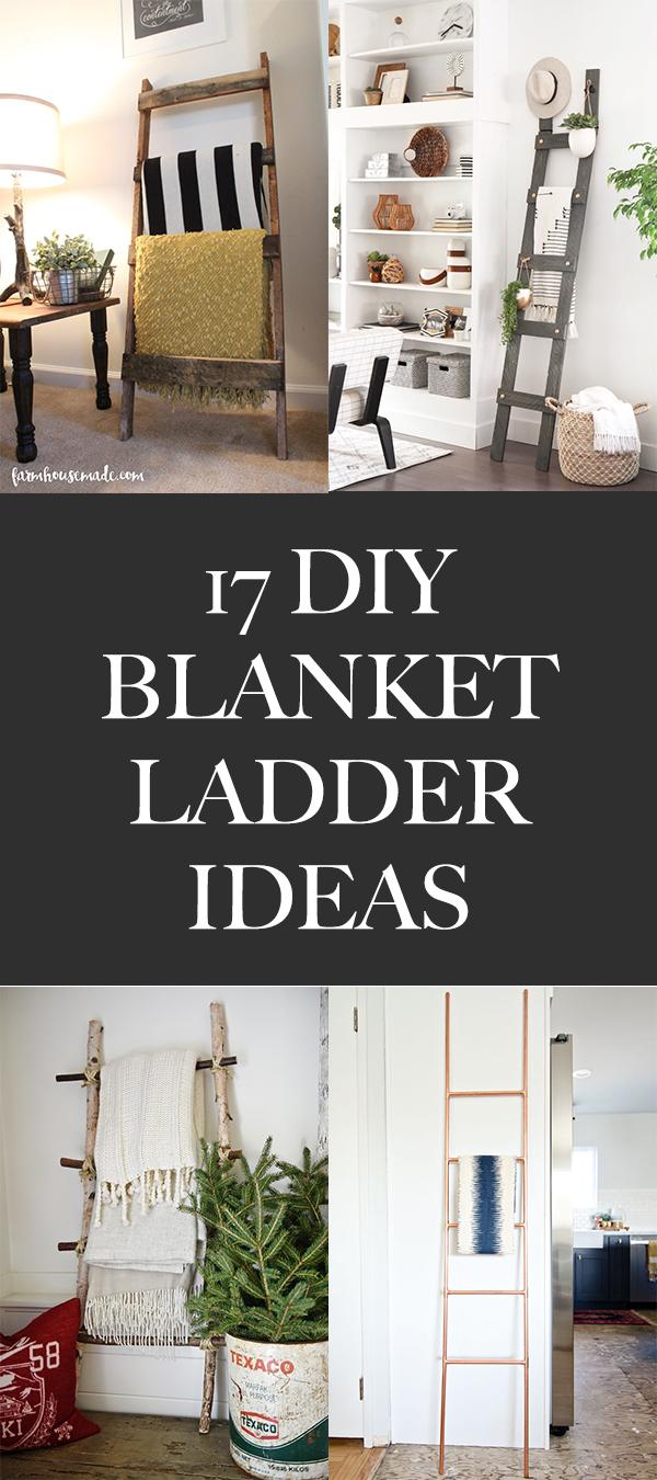 17 Easy DIY Blanket Ladder Ideas