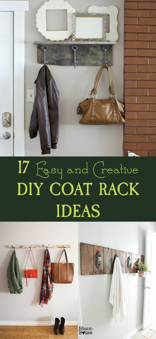 17 Easy and Creative DIY Coat Rack Ideas