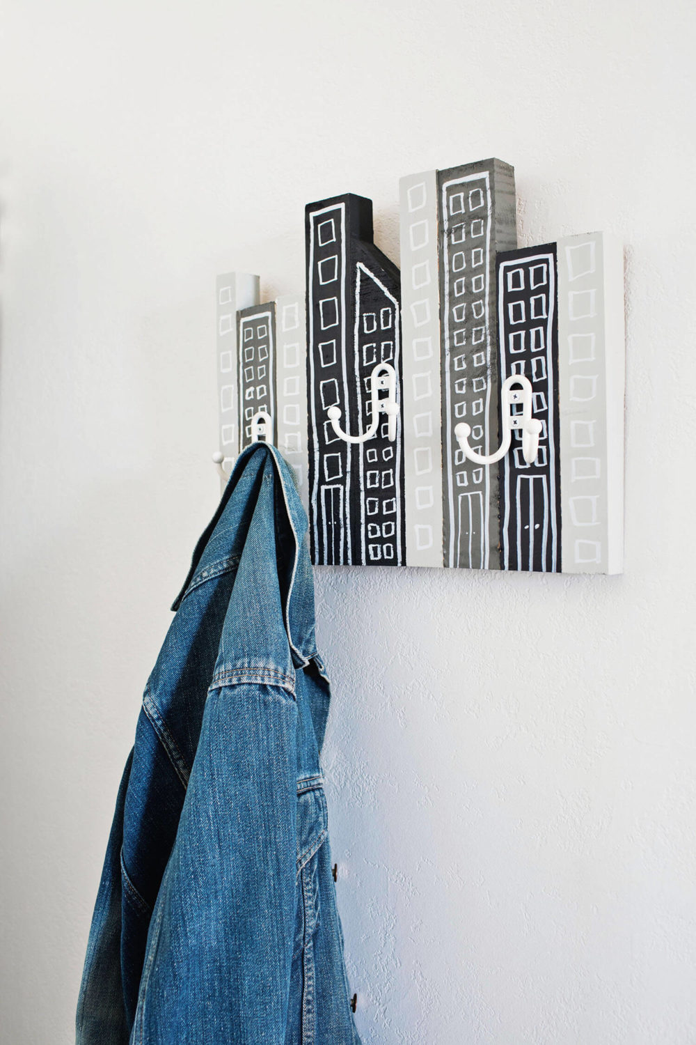 Cityscape Coat Rack