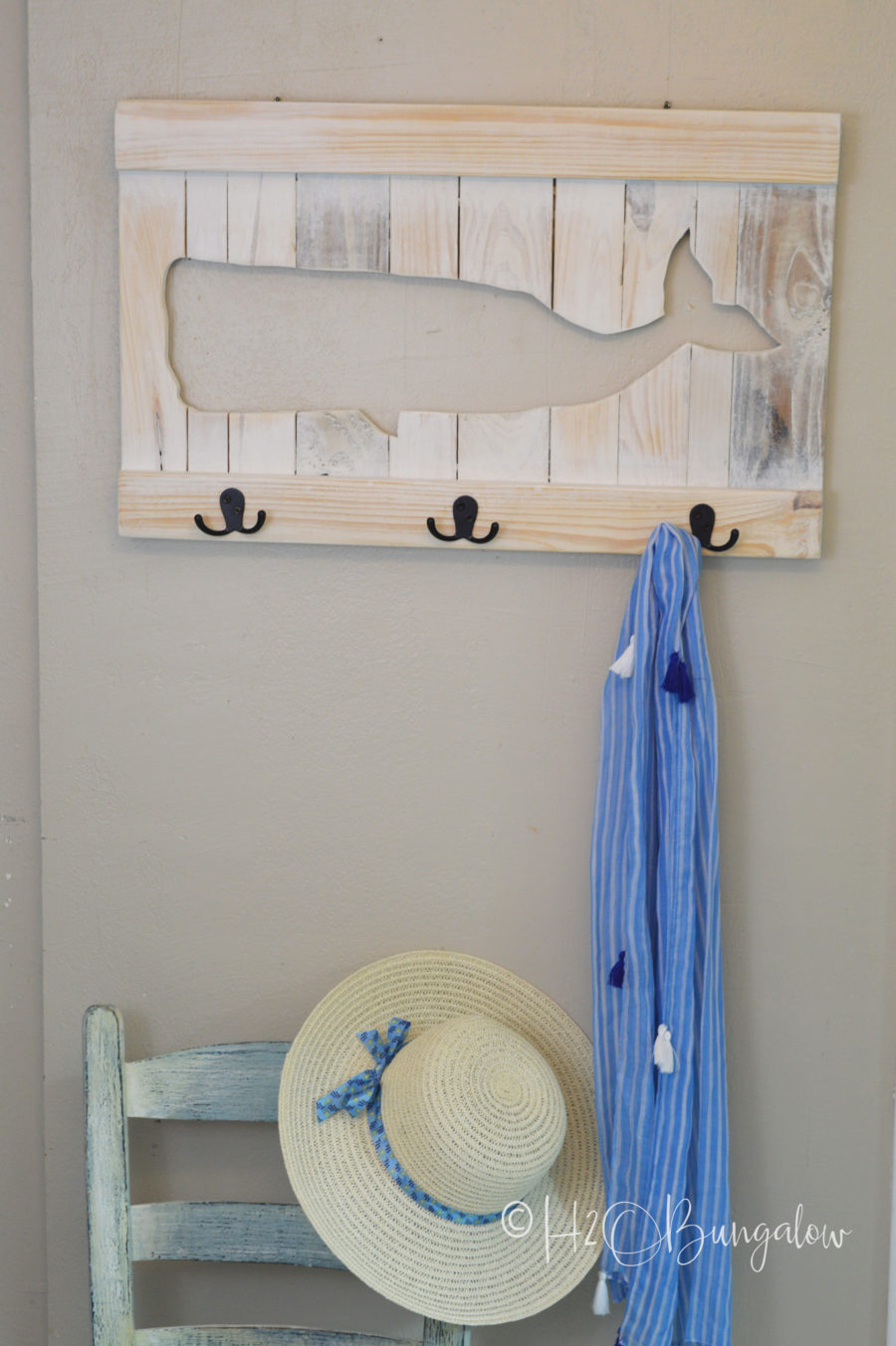 Coastal Whale Coat Rack