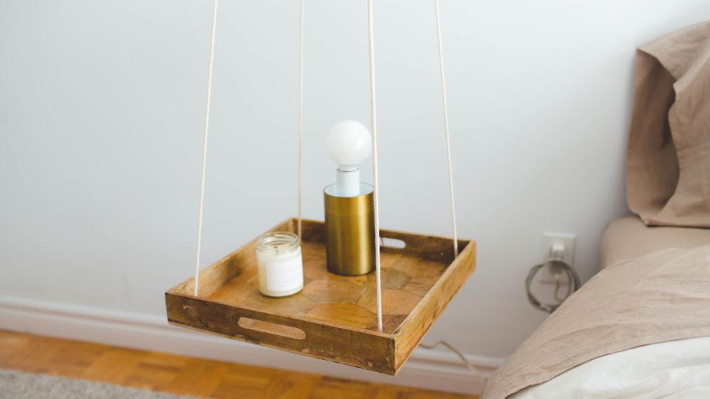 Minimal Hanging Nightstand