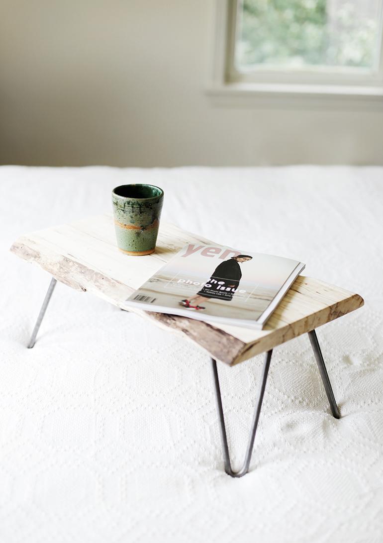 Wood Hairpin Leg Lap Desk