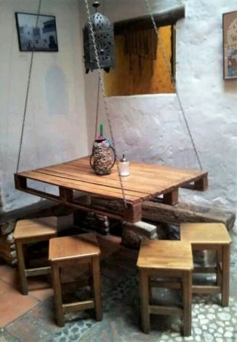 Pallet Hanging Table