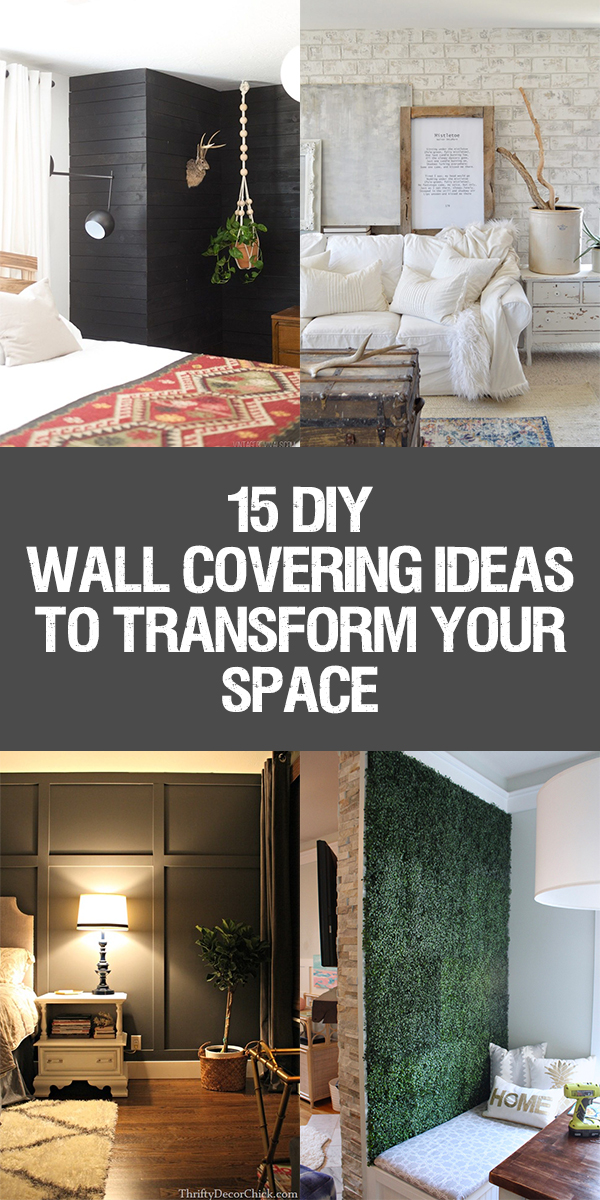 15 Amazing DIY Wall Covering Ideas To Transform Your Space