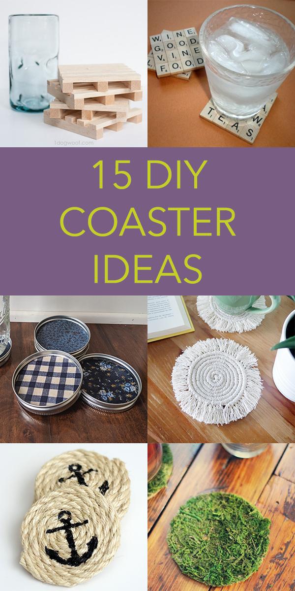 15 Creative DIY Coaster Ideas