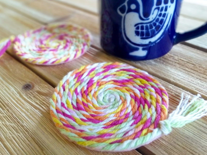 Swirly Twirly No-Sew Yarn Coasters