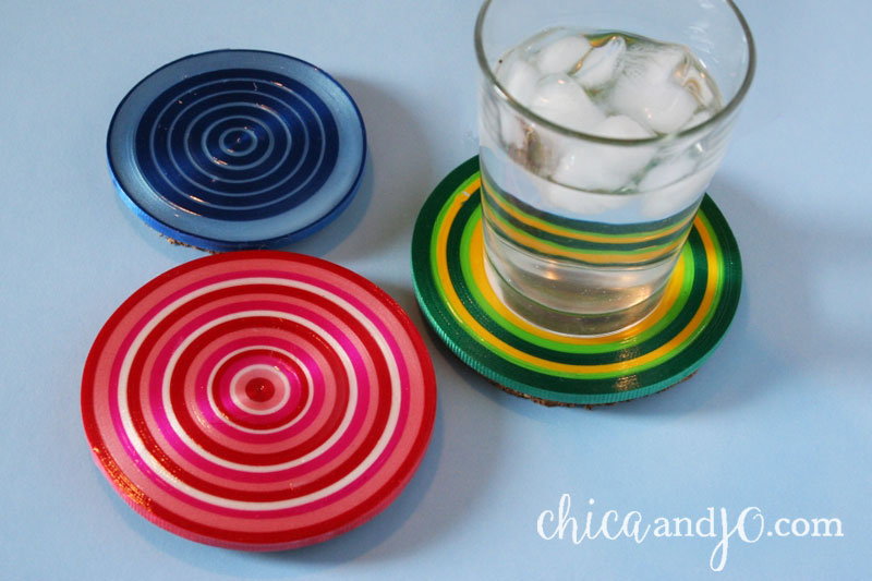 Coasters from Curling Ribbon