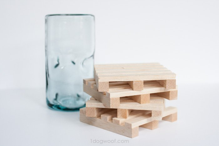 Miniature Wooden Pallet Coasters