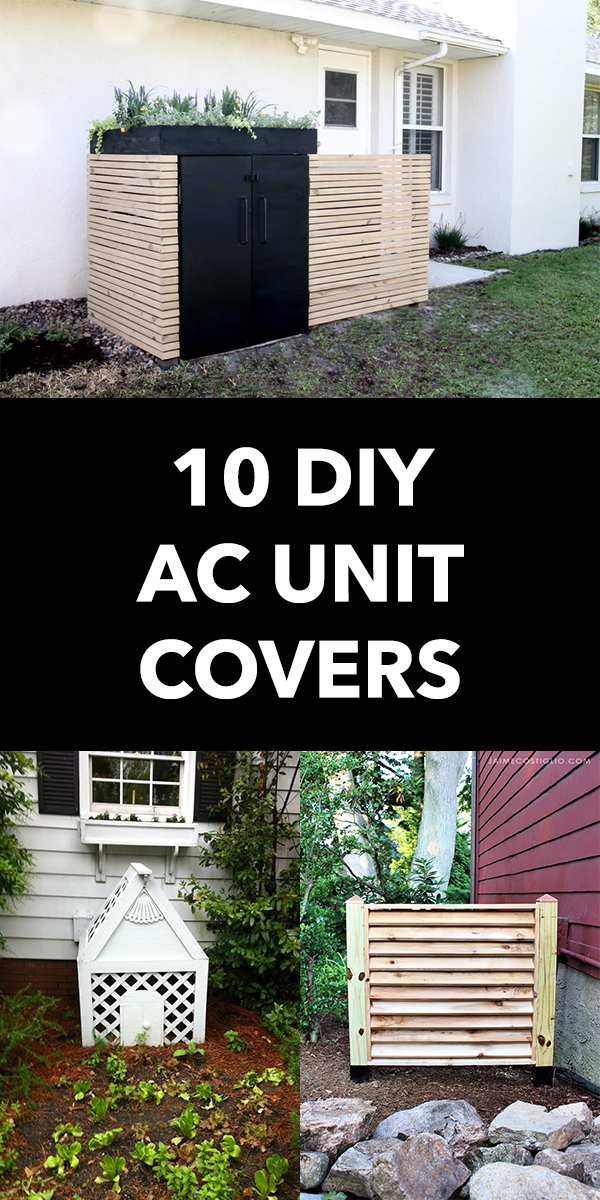 10 Cheap And Easy DIY AC Unit Covers