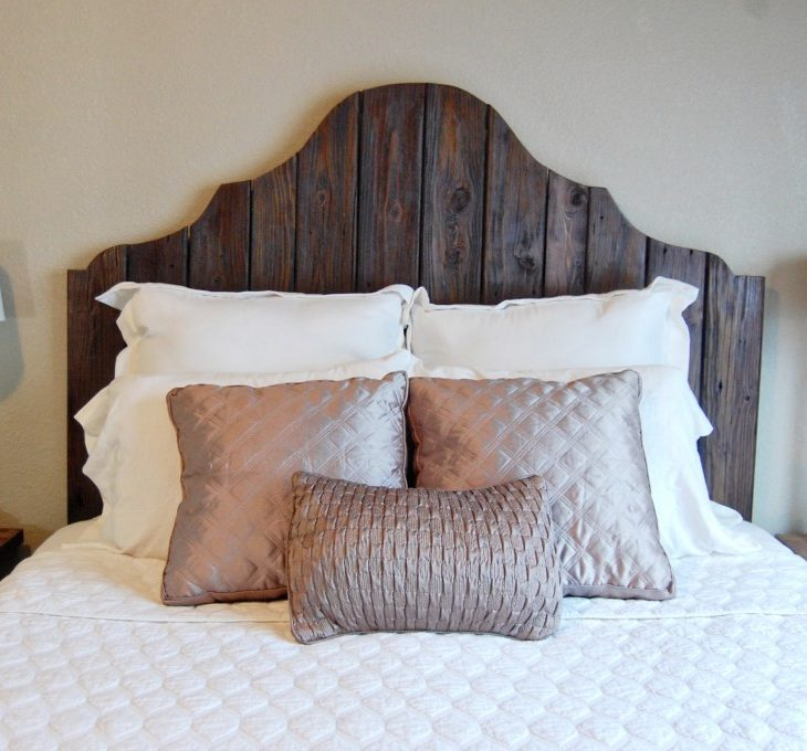 Curvy Reclaimed Wood Headboard