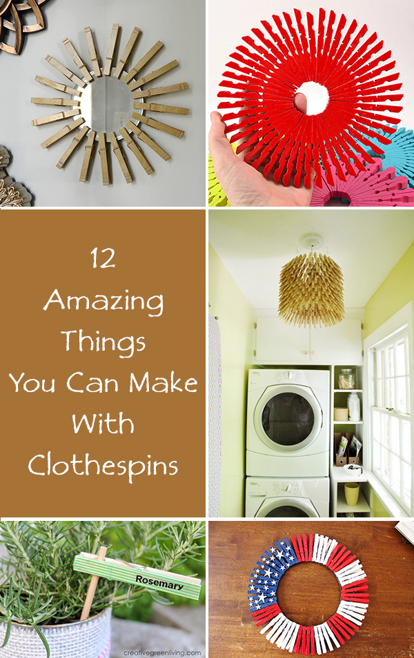 12 Amazing Things You Can Make With Clothespins