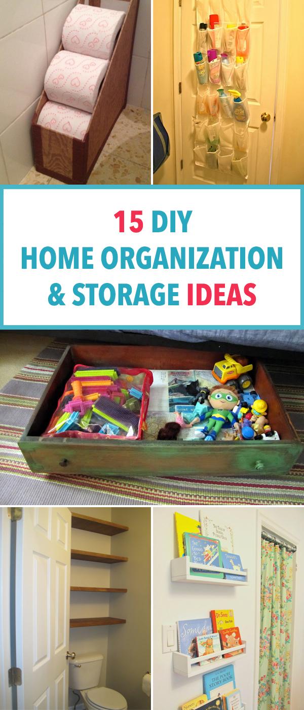 15 DIY Home Organization and Storage Ideas